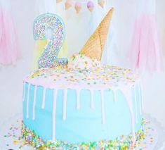 Eisparty ** CustomerPicsWeLove ** - - Birthday Cake Blue Ideen - Beyond Binary Second Birthday Cakes, Baby Girl Birthday Cake, Ice Cream Birthday Cake, Birthday Cake With Candles, Girl Birthday Themes, Boy Birthday Parties, 4th Birthday, Birthday Ideas, Ice Cream Theme
