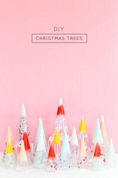 DIY Christmas Trees: Confetti Cones