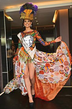 Miss World 2014, Rolene Strauss wearing a costume...