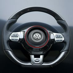 TID Carbon Steering Wheel Trim for MK6 GTI, Jetta GLI & MK3 Scirocco