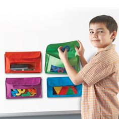 Learning Resources Magnetic Storage Pockets, Whiteboard Accessory Case, Classroom Organization, Set of 4 In 4 Colors Library Organization, Classroom Organisation, Classroom Design, Classroom Decor, Classroom Management, Organization Ideas, Storage Ideas, Magnetic Storage, Toy Storage