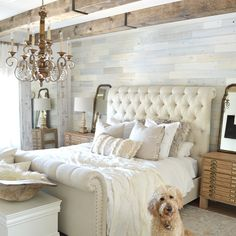 Farmhouse Master Bedroom, Master Bedroom Design, Home Bedroom, Bedroom Ideas, Master Bedroom Decorating Ideas, Modern Bedroom, Rustic Chic Bedrooms, Bedroom Designs, Beautiful Master Bedrooms