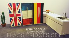 My Sims 4 Blog: Fridge Recolors and Paintings by LeagueOfSims