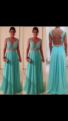 Tiffany Blue Wedding/bridesmaid dress.  This is gorgeous!