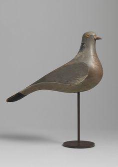Pigeon decoy, English, c.1900.