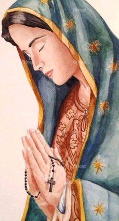 Praying The Rosary Catholic, Catholic Prayers, Catholic Art, Jesus Mother, Blessed Mother Mary, Blessed Virgin Mary, Jesus And Mary Pictures, Pictures Of Christ, Religious Images
