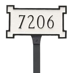 Montague Metal Products New Yorker Petite Address Plaque Finish: White/Silver