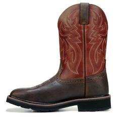 Wolverine Men's Rancher Medium/X-Wide Waterproof Steel Toe Work Boots (Rust/Brown Leather)