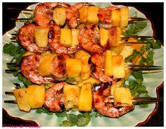 Grilled Kahlua Shrimp Kabobs