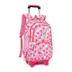Hot Sales Removable Children School Bags with Wheels for Girls Trolley  Backpack Kids Wheeled Bag Bookbag travel luggage eb2046d6761ed