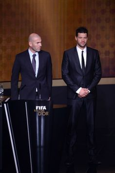 Zinedine Zidane y Michael Ballack