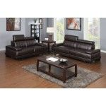 Mariano Furniture - 2 Piece Sofa Set in Dark Brown - BQS150