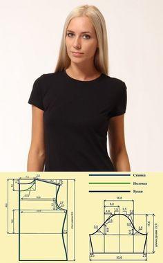 Шитье ✂ Выкройки.Женская футболка. Выкройка