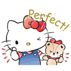 Hello Kitty and her teddy bear pal Tiny Chum get the watercolor treatment in this sticker set. Give your chats a boost of cuteness with this pair and their adorable actions. Good times or bad, there's a sticker here ready to help you out! Sanrio Hello Kitty, Hello Kitty Stickers, Hello Kitty Art, Hello Kitty My Melody, Hello Kitty Birthday, Hello Kitty Pictures, Kitty Images, Cartoon Stickers, Cat Stickers