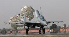 An Indian Air Force Sukhoi Su-30MKI touches down.