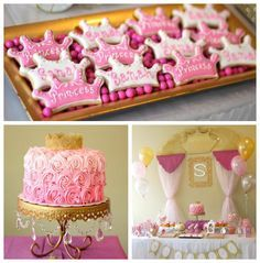 Pink + Gold Princess themed birthday party