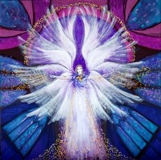 Archangel Zadkiel by Sandra Tiseyra Namaste, Archangel Zadkiel, Angel Images, Shape Art, Guardian Angels, Angels And Demons, Angel Art, Celestial, First Night