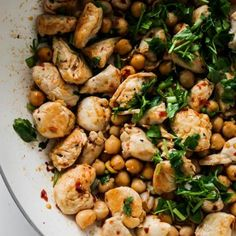 High-Protein Spicy Chicken & Chickpeas Recipe (GF) - Her Highness, Hungry Me - How To Look Good Every Day, Even When You're Not Leaving The House – Her Highness, Hungry Me - Grilled Cheese Avocado, Healthy Oatmeal Breakfast, Breakfast Recipes, Chicken Chickpea, Best Meal Prep, Healthy Chicken Dinner, Healthy Dinners, Strawberry Smoothie, Strawberry Pancakes