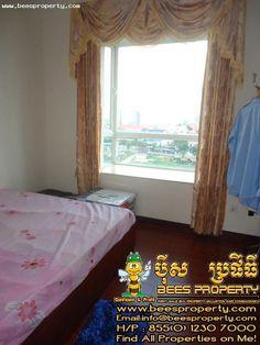 Rose condo for rent tonlebasac view, 3 bedrooms