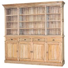 Favorite Piece Ever : Hudson Open Bookcase, currently available in our Baltimore store.  94x102x19 in a driftwood finish