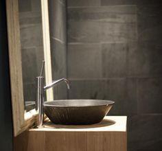 Badkamer VERBAU-betonstuc kleur #07/4 graniet. | badkamer ...