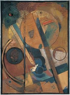 Kurt Schwitters The Worker Picture, 1919 Collage with paper, wood and metal on panel Kurt Schwitters, Art Du Collage, Collage Artists, Mixed Media Collage, Dada Collage, Photomontage, Dadaism Art, Abstract Expressionism, Abstract Art