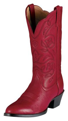Red boots.  Ariat is my brand..
