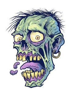 Giclee Print: by FlyLand Designs : Arte Zombie, Zombie Art, Zombie Head, Zombie Drawings, Dark Art Drawings, Weird Drawings, Zombie Cartoon, Cartoon Art, Arte Horror
