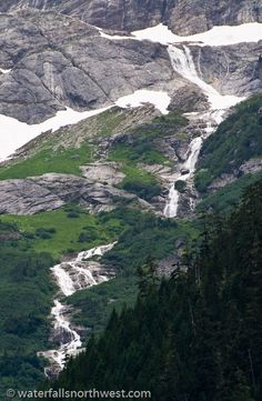 Colonial Creek Falls in the state of Washington is considered by some as the largest in the continental USA.