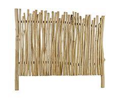 Testata letto in rami di legno