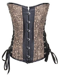3c559c721e Charming Leatherette With Jacquard Strapless Front Busk Closure Corsets
