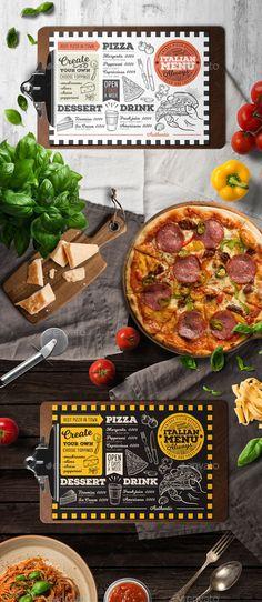 Download Pizza menu restaurant seafood menu vector template Free ...