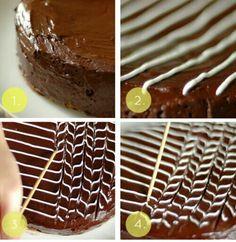 Easy & easy cake decor | https://m.facebook.com/sololasmejoresrecetasdetodoelmundo
