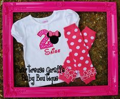 Personalized Minnie Mouse Birthday Shirt 9 by ChartreuseGiraffe, $17.00