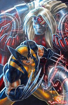 Wolverine Vs Omega Red by ~LordWilhelm on deviantART