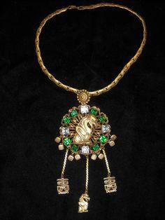 Joseff Hollywood Jewelled Gargoyle Necklace