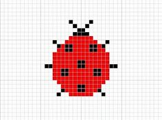 swiss darning pattern for a ladybird
