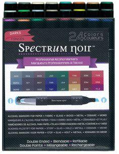 Spectrum Noir Alcohol Markers - Darks 24 Piece Set