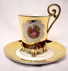 STW Bavaria Gilt Courting Couple Demi Cup Saucer#Repin By:Pinterest++ for iPad#