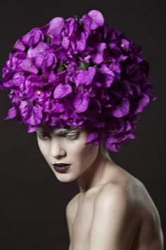 .Purple updo.    t