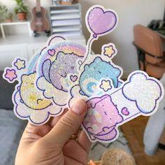 Care Cats Vinyl Stickers – LaznyeCreaShop Holographic Foil, Cute Planner, Doodles, Dots, Rainbow, Stickers, Stitches, Rain Bow, Rainbows