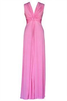 Vestido comprido rosa