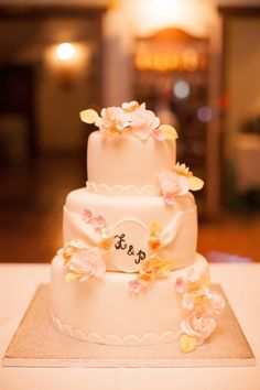 sweet wedding cake, photo by Peter and Veronika http://ruffledblog.com/pastel-slovak-wedding #cakes #weddingcake #wedding