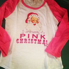 Bling a GoGo - Dreaming of a Pink Christmas on Pima Youth Baseball Burnout Tee, $64.00 (http://www.bling-a-gogo.com/dreaming-of-a-pink-christmas-on-pima-youth-baseball-burnout-tee/) #pink #pinkchristmas #christmas #santa #holiday #dream