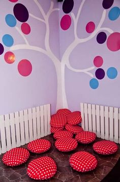 Cushions for the Reading Corner--Basement idea. Classroom Setting, Classroom Setup, Classroom Design, Classroom Displays, Preschool Classroom, Decoration Creche, Home Daycare, Church Nursery, Classroom Organisation