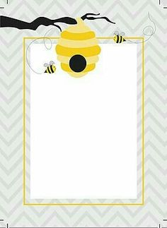 Bumblebee Themed Birthday Party with FREE Printables Bee Pictures, Spelling Bee, Bee Party, Bee Crafts, Borders And Frames, Bee Theme, Writing Paper, Classroom Themes, Journal Cards