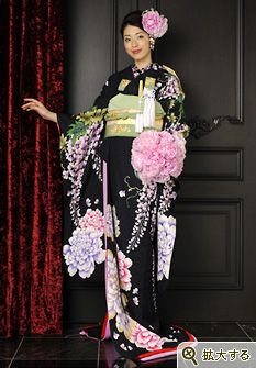 Furisode, japanese traditional clothing
