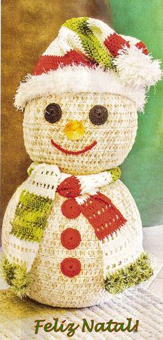 CROCHE COM RECEITAS: Feliz Natal Em Crochê