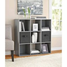 Mainstays 9 Cube Storage Multiple Colors Image 1 of 1  sc 1 st  Pinterest & Better Homes and Gardens 9-Cube Organizer | Getting Organized ...