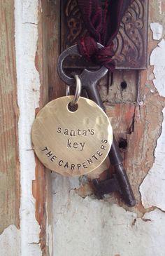 Santa's Key, Key for Santa, Vintage skeleton key